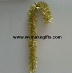 Gold Tinsel Candy Cane