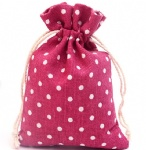 Personalized Drawstring Cotton Muslin Bag for gifts, treats, jewelry