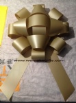 Gold magnetic giant car bow in 30 inch