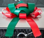 30inch Red/Green magnetic car bow