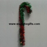 Red/Green Mixed color Tinsel Candy Cane