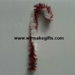 Red/White mixed color Tinsel Candy Cane